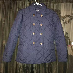 Quilted Navy Blue Girls Ralph Lauren Jacket